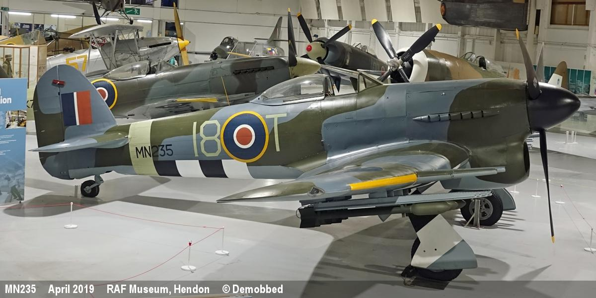 Demobbed out of service british military aircraft mn235 hawker typhoon iib altavistaventures Choice Image